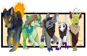 Art Fight #23 - Alien Dog Squad by TheLavaWolf