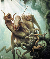 Monster vs Hero by KENBARTHELMEY