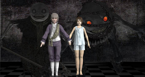 Nier: Emil and Halua by silversnie