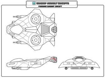 Starship Assault - Gunship Punisher Concept by zhe-holti
