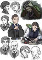 Quirrell sketches by FriendlyChestnut