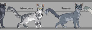 Stormtail x Moonflower's family by Belka-1100