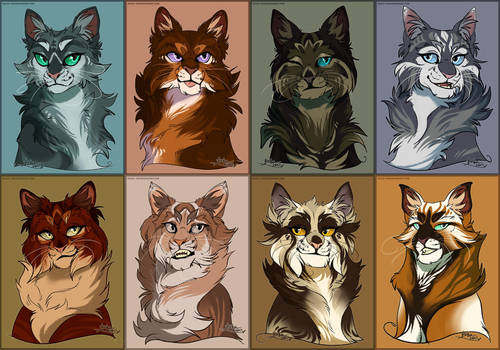 Fluff Cats Portraits by Belka-1100
