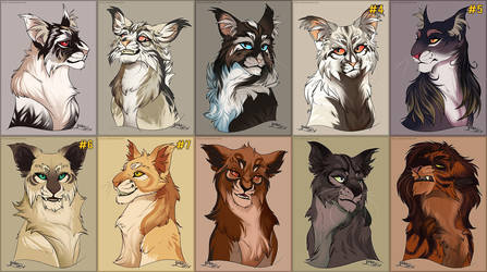 Fluff Love Cat and Feline Adoptables -4/10 OPEN by Belka-1100