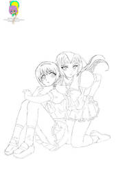 Tsuko+Elizabeth (Best Friends Forever) Pin-Up by Shirowe