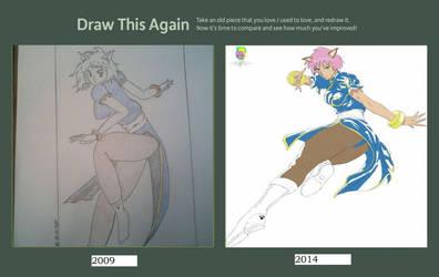 Draw This Again Meme (Meow Meow Chun Li Tribute) by Shirowe