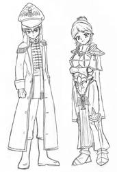 Commissar and Sister of Battle by thriethetiger