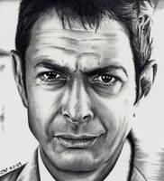 Jeff Goldblum by Doctor-Pencil