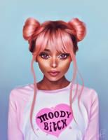 Nyane Lebajoa Portrait by XDaiaX