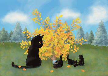 Cat of Fortune by netsurikigakudai2