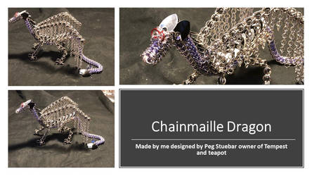 Chainmaille Dragon Sculpture by graywolfsmaille