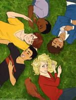 six dumb kids playing hero by suzanami