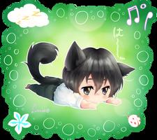 Today, I Want to CAT. ~ Chibi Tanaka-kun by Burucheri