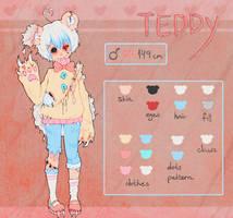 Teddy ~ Reference Sheet (Darker Version) by Burucheri