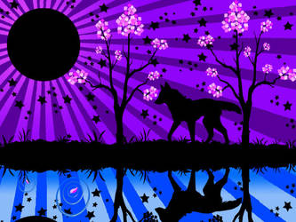 Wolf background Vector style by Dace1120