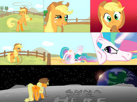 Applejack's Off-Planet Vacation by ParallaxMLP