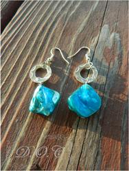 Blue Stone Earrings by DOC-Ash1391