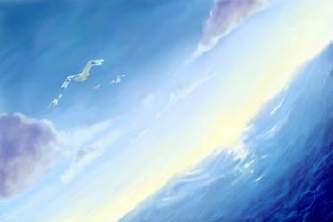 Sunrise Ocean by Quanyails