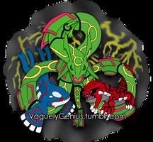Rayquaza, Kyogre, and Groudon - Hoenn Remake Ahoy! by vaguelygenius