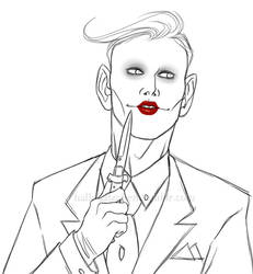 $10 Sketch Commission: The Joker by hallokatzchen