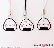 onigiri pendants by thirdratedstar