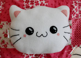 neko plush pillow by thirdratedstar