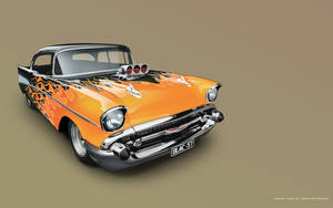 flamed 57 chev vexel by immortalwolfhunter