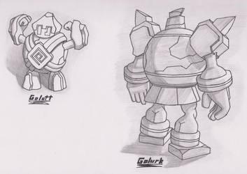 Golett and Golurk - Sketch by Drew108