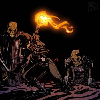 Bones, rattling in the dark by RobD2003