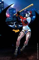 Batman and Harley by rswolvi