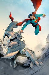Superman vs Doomsday by rswolvi