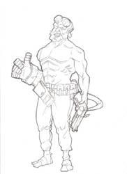 .,Hellboy,. by Nebur1on