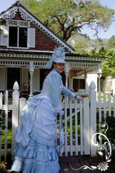 Baby Blue Bustle Dress by dawnsattire