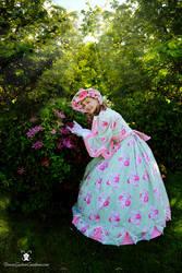 1960's Rose Dress by dawnsattire