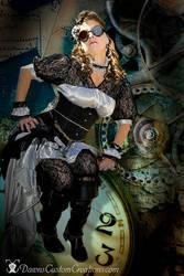 Steampunk Silver and Black by dawnsattire