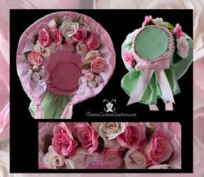 Pink Rose Bonnet by dawnsattire
