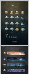 weather icons and wiget by nangeyi