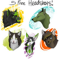 5 free headshots by Piscesgirl7
