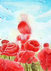 Day 1 - Red: #S010 Summe Sun and Red Poppies by IcedNaly