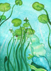 Day 4 - Green: #S013 Under the surface by IcedNaly