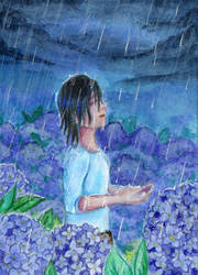 Day 5 - Blue: #S014 Enjoy the Rain by IcedNaly