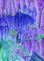 Day 6 - Purple: S015 Roof of blue rain by IcedNaly