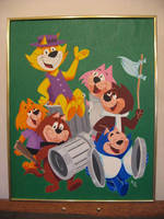 Top Cat and Gang painting by zombiegoon