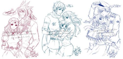 Sketch Commissions Batch 1 by konoesuzumiya