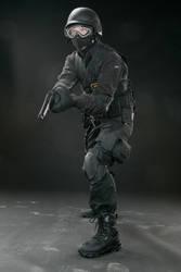 SWAT pistol 2 by Blaq-Unicorn