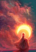 The moon of sun by NadiaDibaj