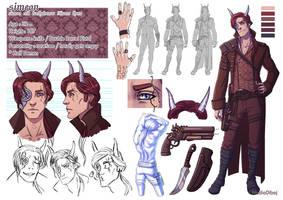 OC-Simeon-characterdesign by NadiaDibaj