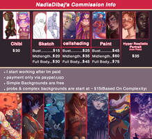 [OPEN] COMMISSION INFO by NadiaDibaj