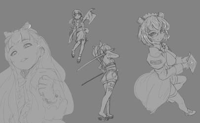 OS-tan sketches by Balrith