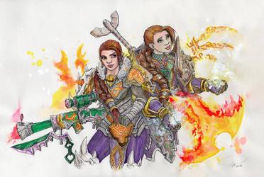 Dirina and Zurah by SarahPilz